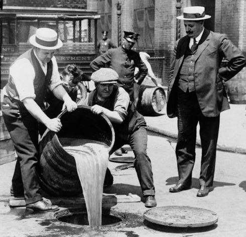 Prohibition alcohol disposal